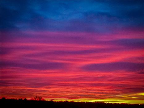 Oklahoma's water colored skies are breathtaking at times.